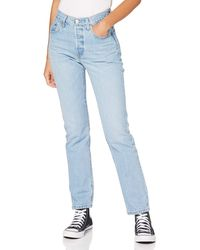 Levi's 501 Cropped Straight High-rise Jeans - Black
