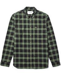 Lacoste CH2565 Camicia Casual a iche Lunghe - Verde