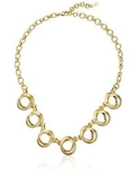 Cole Haan - Double Circle Frontal Necklace - Lyst