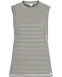 Calvin Klein Sleeveless Crew Neck Top S Pyjamas Small Marching Stripe - Black