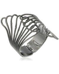 Guess - Basic Clam Cuff Bracelet - Lyst