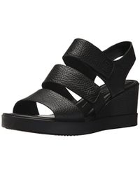 Ecco - Shape Wedge Plateau Sandal (black Cow Leather) Women's Sandals - Lyst