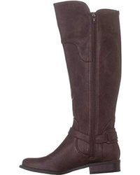 Guess S Harson5 Closed Toe Knee High Fashion Boots, Dark Brown, Size 8.0