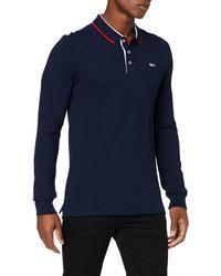 Tommy Hilfiger - Tjm Stretch Slim Longsleeve Polo Shirt - Lyst