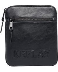Replay Fm3497 Satchel Bag - Black