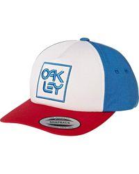 Oakley Snapback Logo Hat Cap One Size California Blue - Blau
