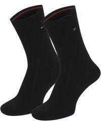 Tommy Hilfiger Lot de 4 paires de chaussettes femme casual très rapide au contenu de l'expédition via amazon - Noir
