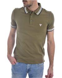 Guess Grady Ss Polo Shirt - Green