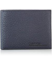 Calvin Klein Ck Bombe' Billfold 8cc - Bleu