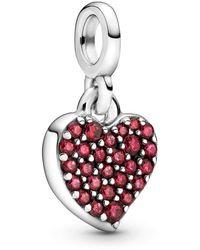 PANDORA Pendentif cœur brillant - Rouge
