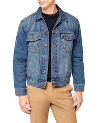 Wrangler Western Denim Jacket, Giacca da Uomo, Blu (Midstone), 2XL