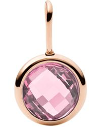 Fossil Stainless Steel Charms - Pink
