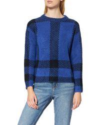 FIND Check Jumper Suéter - Azul