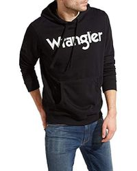 Wrangler - Logo Hoodie Sweatshirt - Lyst