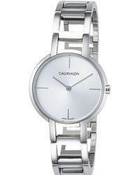 Calvin Klein Reloj Analógico para Mujer de Cuarzo con Correa en Acero Inoxidable K8N23146 - Metálico