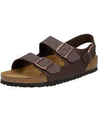Birkenstock Milano S Casual Buckle Sandals 8 Uk Dark Brown