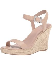 Charles David Womens Wedge Sandal Platform - Natural