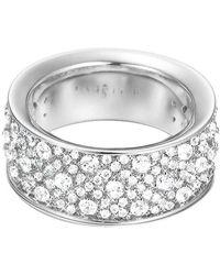 Esprit Ring JW50056 Messing rhodiniert Zirkonia weiß Rundschliff Gr. 50 - Mettallic