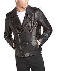 Levi's Faux Leather Motorcycle Jacket, Black, Medium