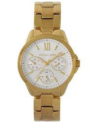 Michael Kors Bradshaw -chronograph Quartz Watch With Gold Tone Stainless Steel Strap For Mk6882 - Metallic