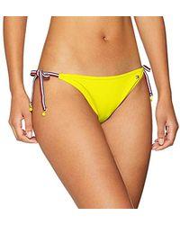 Tommy Hilfiger String Side Tie Bikini Bas de Maillot de Bain - Jaune