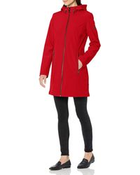 Calvin Klein Mesh Back Raincoat - Red