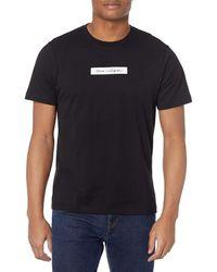 True Religion Box Script Short Sleeve Crew Neck Tee T-shirt - Black