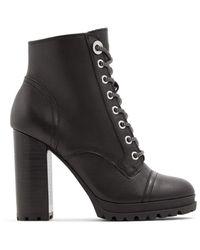 ALDO High Heel Ankle Boot, Lug Sole - Schwarz