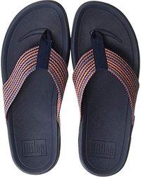 Fitflop - (tm S Surfer(tm) Freshweave Webbing Toe-thongs - Lyst