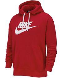Nike - Felpa con Cappuccio Uomo Club Graphic Rossa Taglia S cod BV2973-657 - Lyst
