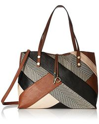 CALVIN KLEIN 205W39NYC - Unlined Raffia Patchwork Reversible Tote, Luggage Combo - Lyst