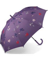 Esprit Long AC Flower Rain Parasol Multicolore Mystical 105 cm - Violet
