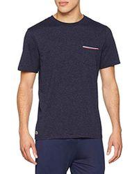 Lacoste Camiseta de Pijama para Hombre - Azul