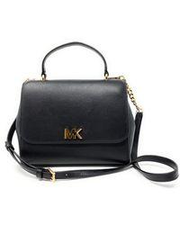 Michael Kors Mott Leather Top Handle Satchel Crossbody bag (Black) - Schwarz