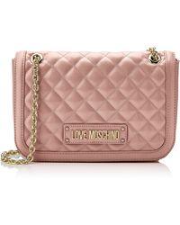 Love Moschino Quilted Nappa Pu Umhängetasche - Pink