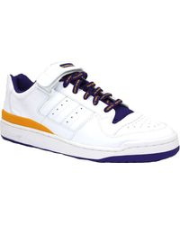 adidas Blanc - Bleu