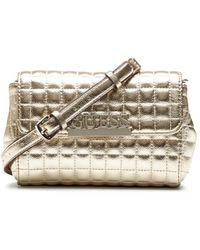Guess Borsa marsupio/tracolla Matrix Mini Xbody Belt Bag trapuntata gold B21GU74 - Metallizzato
