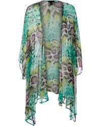 Steve Madden Queen Cobra Bell Sleeve Kimono - Blue