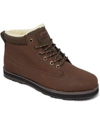 Quiksilver Leather Lace-up Winter Boots - - Eu 43 - Brown