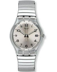 Swatch Analog Quarz Uhr mit Edelstahl Armband GM416B - Mehrfarbig