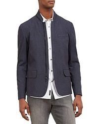 promo code cb677 60d6c Kenneth Cole Reaction - Slim Blazer With Zip Front - Lyst