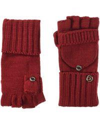 Calvin Klein Lurex Textured Flip Top Glove Headwrap - Orange