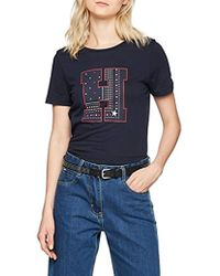 Tommy Hilfiger Tjw Essential Americana tee Camiseta para Mujer