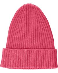 The Drop Julie Ribbed Beanie Hat - Pink