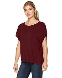 Majestic Filatures - Short Viscose/elastane Oversized Sleeve Scoop - Lyst