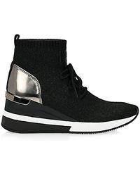Michael Kors Socks Fabric Lurex Black - Black, 36 Eu