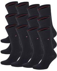 Tommy Hilfiger 4 Paar Classic Socken Gr. 39-49 Business Sneaker Socken - Schwarz