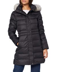 Tommy Hilfiger TH ESS Tyra Down Coat with Fur Chaqueta - Azul