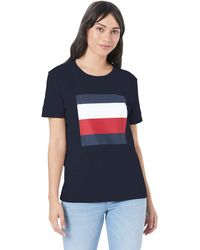 Tommy Hilfiger - Cathy C-nk Tee Ss T-shirt - Lyst