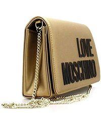 Love Moschino Borsa Metallic Nappa Pu, Pochettes - Métallisé